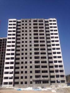 ادامه اجرای نمای اصلی ساختمان (برج ١٠٩)با پیشرفت حدود ٣٠٪